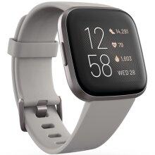 Fitbit Versa 2 Smart Fitness Watch Stone Grey Aluminium