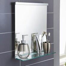 Premium Bathroom Mirror with Shelf Perfect For Using to Apply Your Make Up in The Morning!