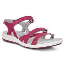 Ecco Womens Cruise II Adjustable Lightweight Leather Sandals