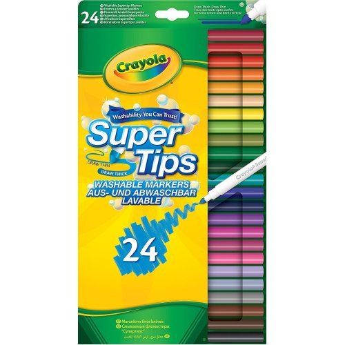 Crayola Supertips Markers (Pack of 24)