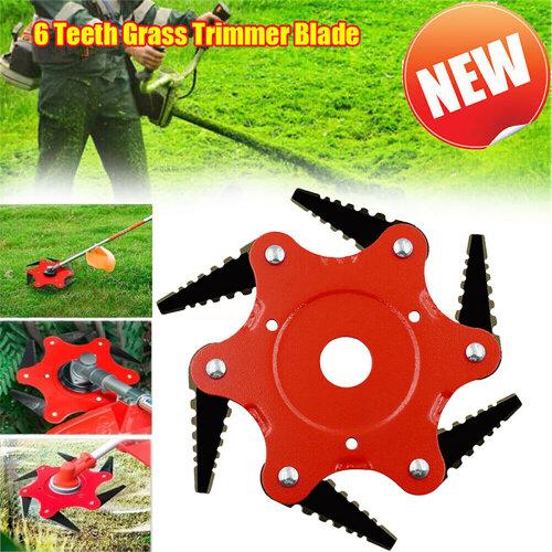 6 Teeth Grass Trimmer Blade Brush Cutter Head Steel Garden Strimmer Mower Tools