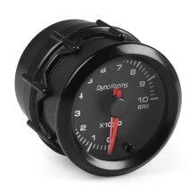 """2"""" 52mm 7 Color LED Car Interior Pointer Tachometer Tacho Gauge Meter 0~10RPM Smoke Face for 4/6/8 Cylinder Engine 12V Gasoline Cars Vehicles"""