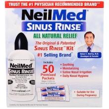 NeilMed, The Original & Patented Sinus Rinse Kit, 50 Premixed Packets, 1 Kit