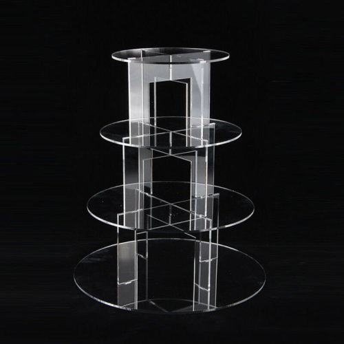 4-Tiered Cake Stand | Clear Round Cupcake Stand Tower