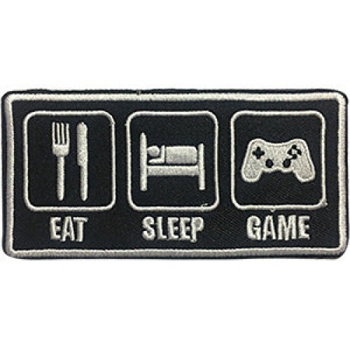 Patch - Video Games - Eat Sleep Game Icon-On p-dsx-4716