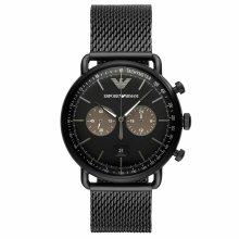 Emporio Armani Aviator Men's Watch¦Tachymeter Chrono Dial¦Mesh Strap¦AR11142