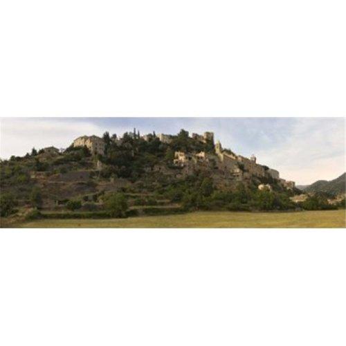 Hilltop town of Montbrun-Les-Bains  Drome  Rhone-Alpes  France Poster Print by  - 36 x 12