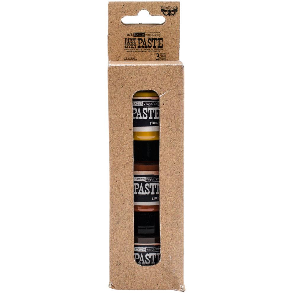 Finnabair Art Extravagence Rust Effect Paste 50ml Jars 3/Pkg-3 Colors