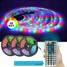 5-15M RGB 3528 LED Strip Lights With IR Remote Back Light 12V Colour Changing UK