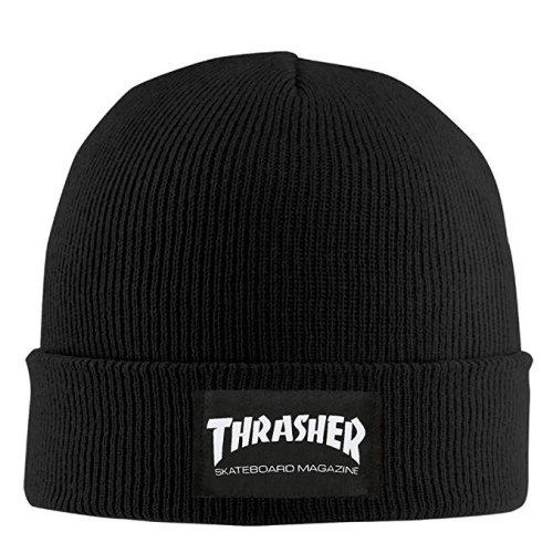 Thrasher Skateboard Magazine Graphic Print Man Beanie  Hat