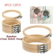 """12x 6"""" Wooden Embroidery Hoops Cross Stitch Tools"""