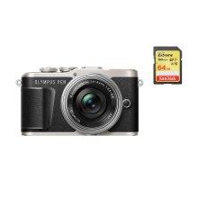 OLYMPUS E-PL9 Black+14-42mm F3.5-5.6 EZ Silver+SanDisk Extreme 64G SD