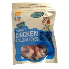 Good Boy Waggles & Co Crunchy Chicken & Calcium Bones 100g (Pack of 8)