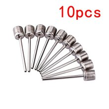 2019 10pcs Sport Ball Inflating Pump Needle For Football Basketball Soccer Inflatable Air Valve Adaptor Stainless Steel Pump Pin