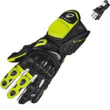 Black Raptor 390 Sports Leather Motorcycle Gloves