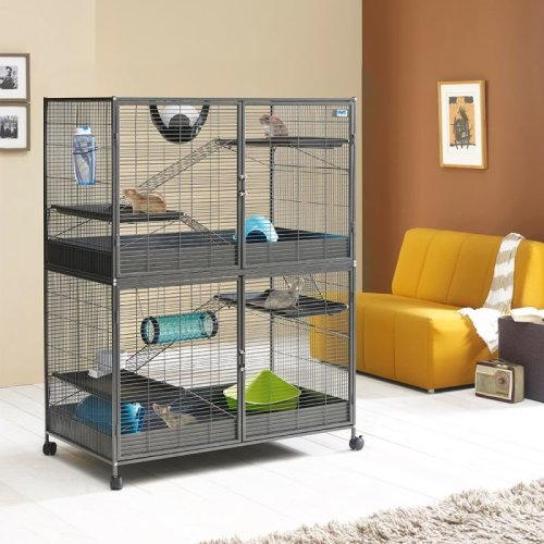 XL Cage for Rats Ferrets Chinchillas 2 Levels Can Separate Levels