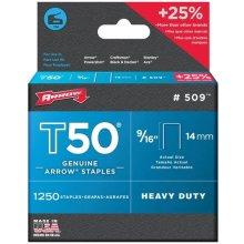 "Arrow T50 Staples Size: 9/16"" - 14mm Pack: 1250"