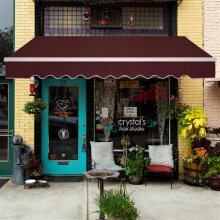 2.5x2 m Retractable Awning Wine Red Sunshade