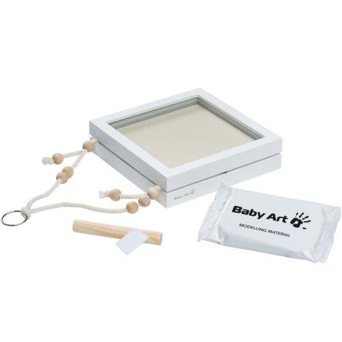 Baby Art Hanging Print Frame White Wooden Baby Impression Frame Hand Print Kit