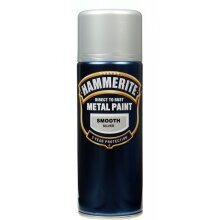 Metal Paint 400ml Aerosol, Smooth Silver, Smooth Silver, By Hammerite