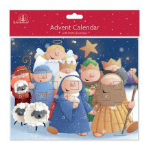 Tallon Paper Christmas Advent Calendar - 24 Windows - 8463 Fun Nativity Design