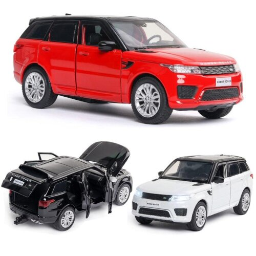 Alloy Car Land-rover Model Range Rover Sports Car Model Sound And Light.