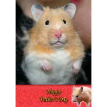 """Hamster Father's Day Greeting Card 8""""x5.5"""""""