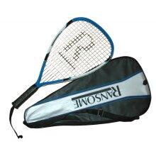 Ransome R2 Boast Racquetball Racket Blue / Black / White - Full Cover - 56cm