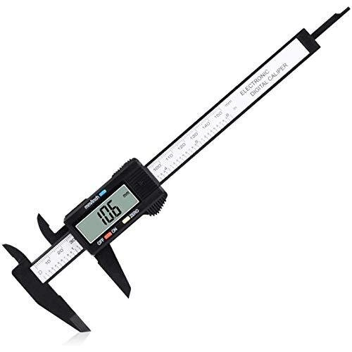 """Digital Caliper, Adoric 0-6"""" Calipers Measuring Tool - Electronic Micrometer Caliper with Large LCD Screen, Auto-off Feature, Inch and Millimeter"""