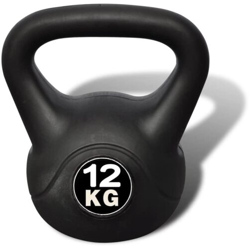 (12KG) Vinyl Kettlebell Weight Kettlebells 2-14kg Fitness