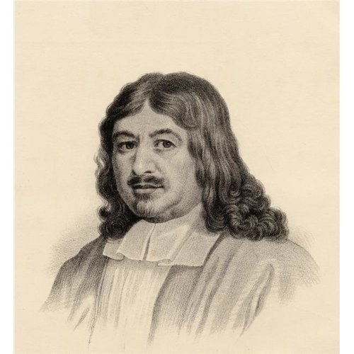 John Bunyan 1628-1688. Author of the Pilgrims Progress From The Lithograph by W.H.Mcfarlane Poster Print, Large - 28 x 30