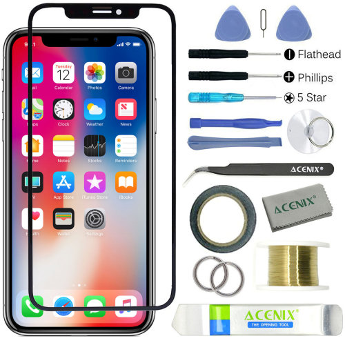 ebuyerfix® Replacement Front Outer Touch Screen Glass Lens Kit For iPhone XS Max
