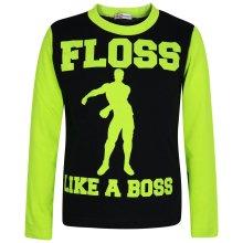 Kids Girls Boys Designer's Floss Like A Boss Pyjamas Lime Loungewear PJS 2-13 Yr