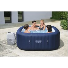 "BestWay Lay-Z-Spa 71""x71""x28"" Hawaii AirJet Inflatable Hot Tub with Heater Cover"