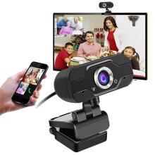 HD 720P Webcam PC Desktop Laptop Web Camera Built-in Microphone for Video Calls