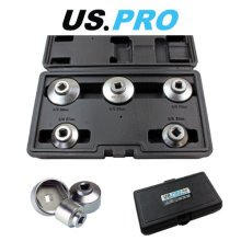 """US PRO 5PC 3/8"""" DR Low Profile Cup Type Filter Wrench Set 3235"""