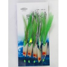 5 Packs Lumi Max Hokki Shrimp 5 Hook Size 3/0 Fishing Mackerel Feathers Lure Sea