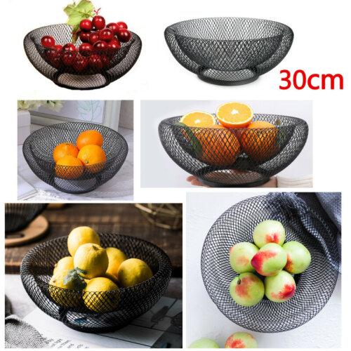 Mesh Fruit Bowl Basket Dinning Table Kitchen Vegetables Fruit Storage