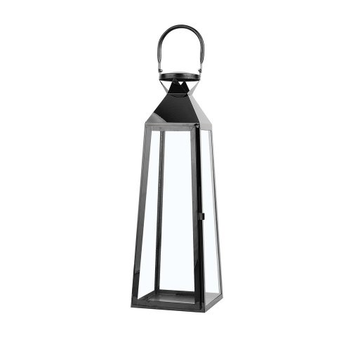 Tall Decorative Lantern Black CRETE