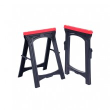 Oypla 2x Heavy Duty Folding Plastic Saw Horse Trestle Stands 150kg