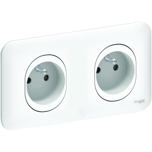 Schneider Electric Ovalis Complete SC5S262069Double Wall Outlet Pre-Wired Claw 230V