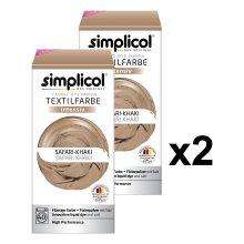 simplicol Fabric Dye Intensive Safari khaki: Washing Machine Dye Kit for Clothes & Fabrics - Pack Contains Liquid Dye & Dye Fixative - Textile...