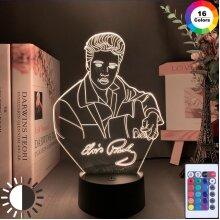 Elvis Presley Figure Night Light Led Color Change light