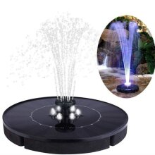 18CM Solar Fountain Led Solar Water Fountain with LED Lights for Outdoor Landscape