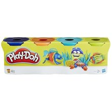 Play Doh Classic Tubs, Assorted Colour, Pack of 4