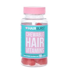 Chewable Hair Vitamins One Month Supply, Pack of 60 Gummies