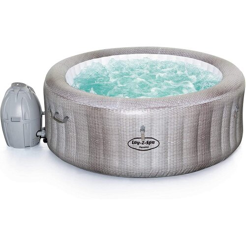 Lay-Z-Spa Cancun Hot Tub with Stylish Rattan Design, AirJet Inflatable Spa, 2 - 4 Person