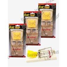 3 X JUMBO WOODEN RAT TRAP CLASSIC RAT/MOUSE REUSABLE HEAVY DUTY TRAPS