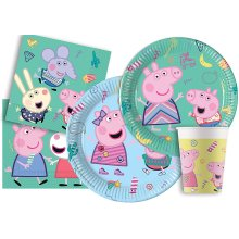 Peppa Pig 17194 Partyware Set for 8 People, Multi