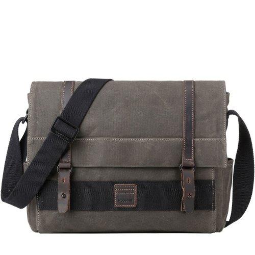 TRP0476 Troop London Classic Canvas Messenger Bag | Buy Bags Online | Canvas Messenger Bags | leather canvas backpack
